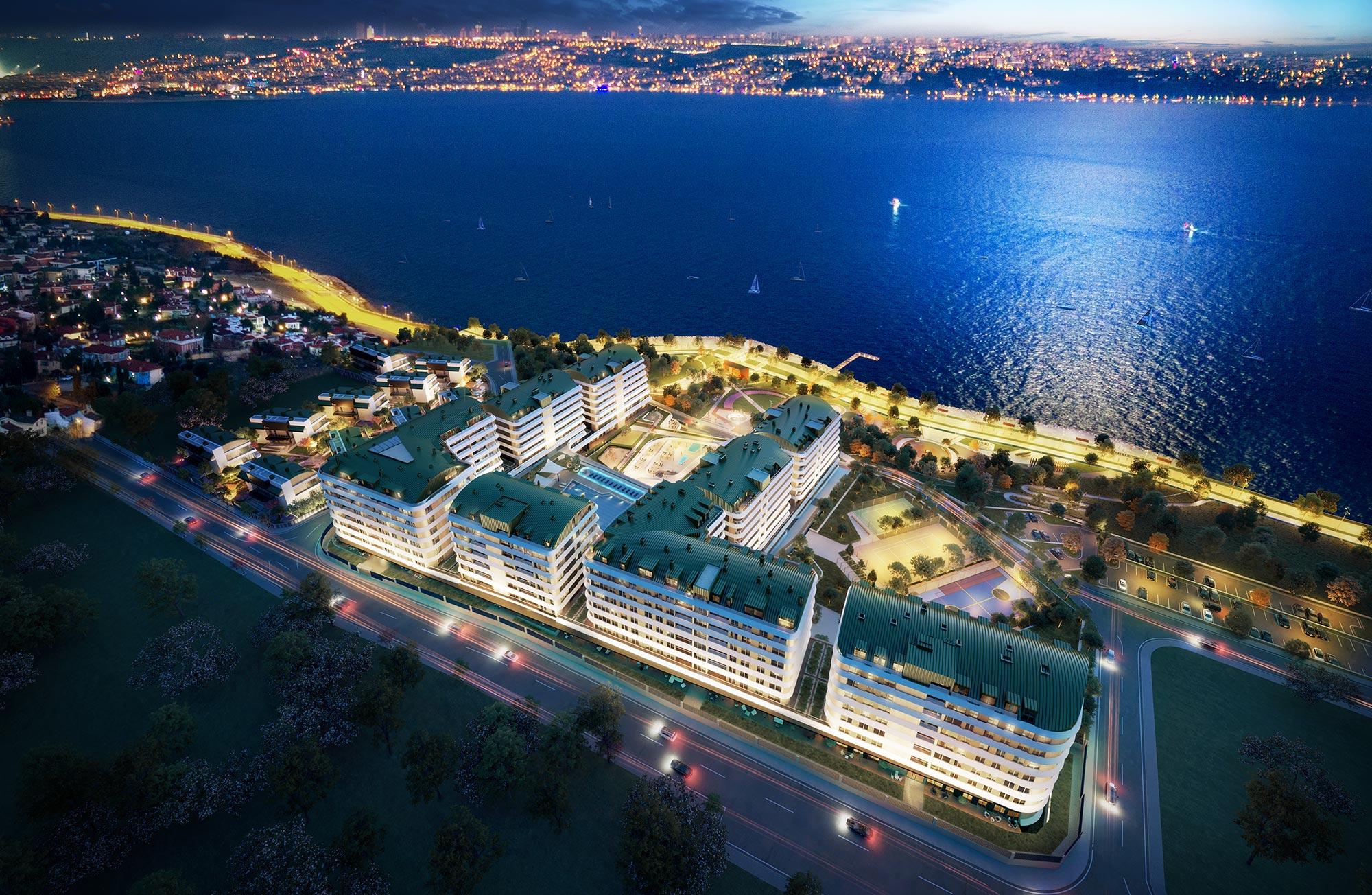 شقق باطلالة بحرية في اسطنبول